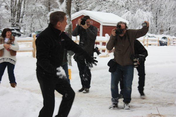Miss the @JohnKasich New Hampshire snowball fight? See photos and videos from the melee.