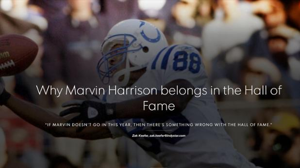 Want to see greatness? Go back and watch Marvin Harrison practice.