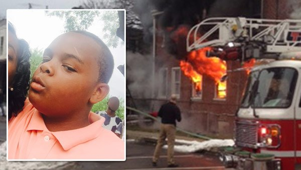 A 12-year-old boy was killed in a fire after attempting to rescue his father