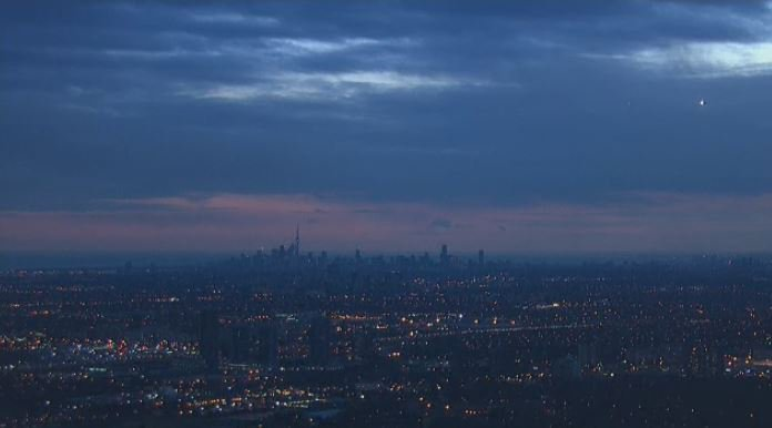 View from the CTV News chopper this evening
