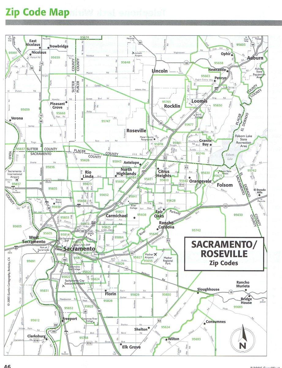 Sacramento zip code by address