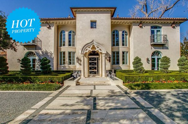 This Mediterranean mansion on Turtle Creek Drive boasts 7 fireplaces and 9 balconies.