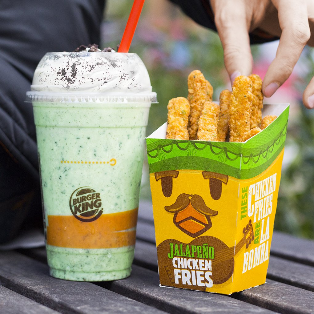 Burger King On Twitter The New OREO Irish Mint Shake And Jalapeno Chicken Fries Green Never Looked So Good Tco P8BBNYYLAN