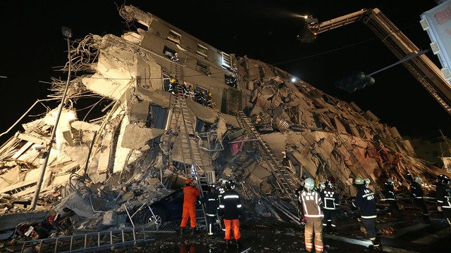Magnitude-6.4 earthquake hits Taiwan, collapses buildings