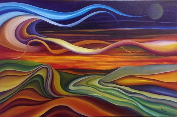 """At the Bend"" 30x20 oil on canvas 2016 by JayB @JayIsPainting #painting #TwitterFirstFriday https://t.co/fcZ73F7Ysx https://t.co/RDwxtViNck"