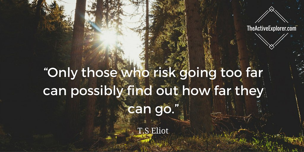 """Only those who risk going too far can possibly find out how far they can go."" — T.S Eliot https://t.co/ixyTjA6y3a"