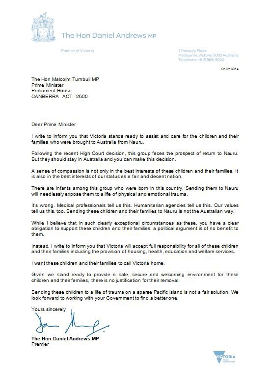 Daniel andrews on twitter i wrote a letter to the prime minister never miss a moment spiritdancerdesigns Images