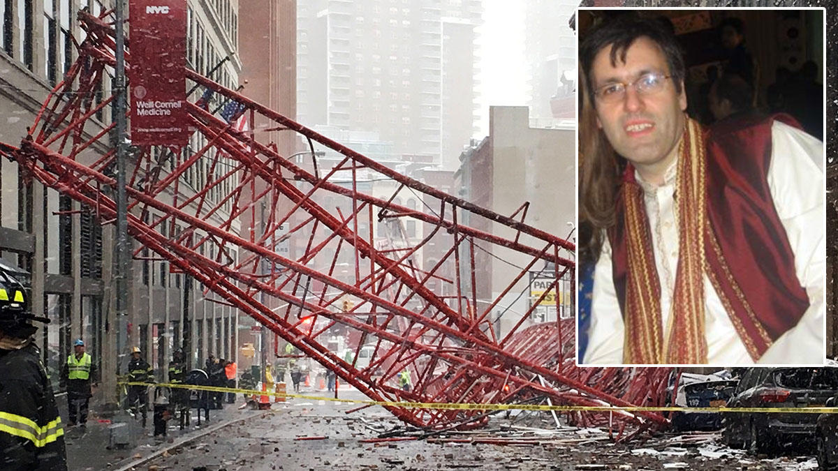 We are learning more about the man killed when a crane fell in NYC Friday -->