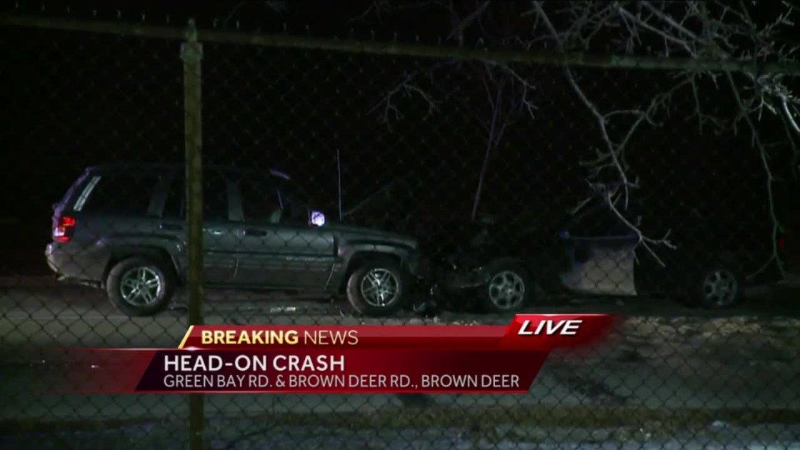 Head-on crash in Brown Deer sends four to hospital