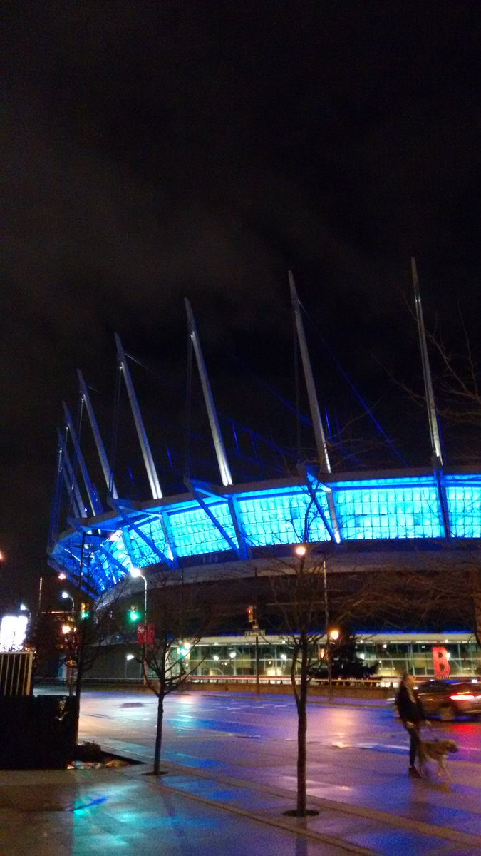 Thank you Claire Sieffert for this photo of @bcplace  #Purple4PEDAW! https://t.co/rCL2otXKtA