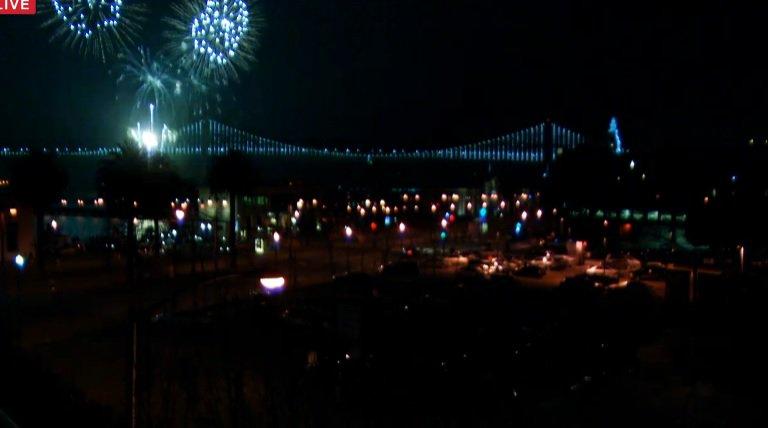 FIREWORKS! Tonight's Super Bowl fireworks show has begun! Enjoy the show! Watch it live here