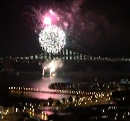 Fantastic fireworks display to kick off SB50 weekend in SanFrancisco. Streaming LIVE now on KTVU's Facebook page