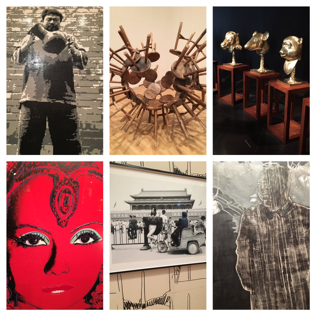 Ai Weiwei and Andy Warhol. An amazing day at the National Gallery of Victoria. #artsed