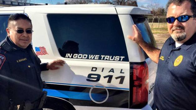 Wharton PD rolls out 'In God We Trust' decals on cruisers HouNews abc13