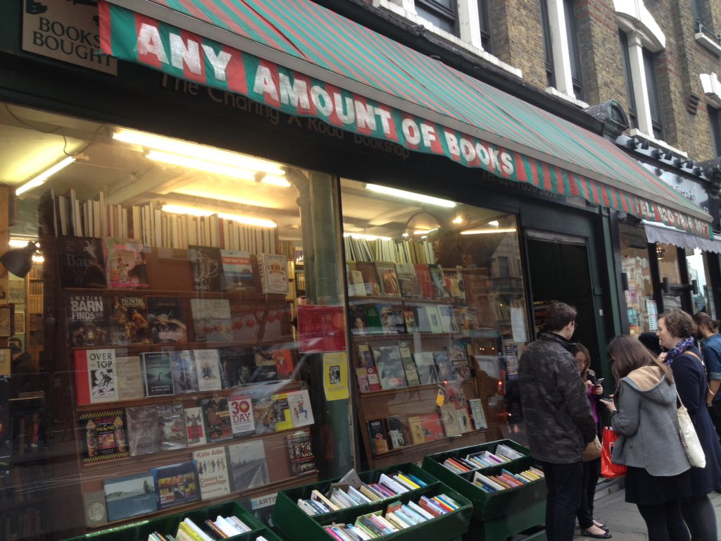 Next up is @AnyAmountBooks: secondhand treats on Charing Cross Road #LondonBookshopCrawl https://t.co/8kfnp4eZsW