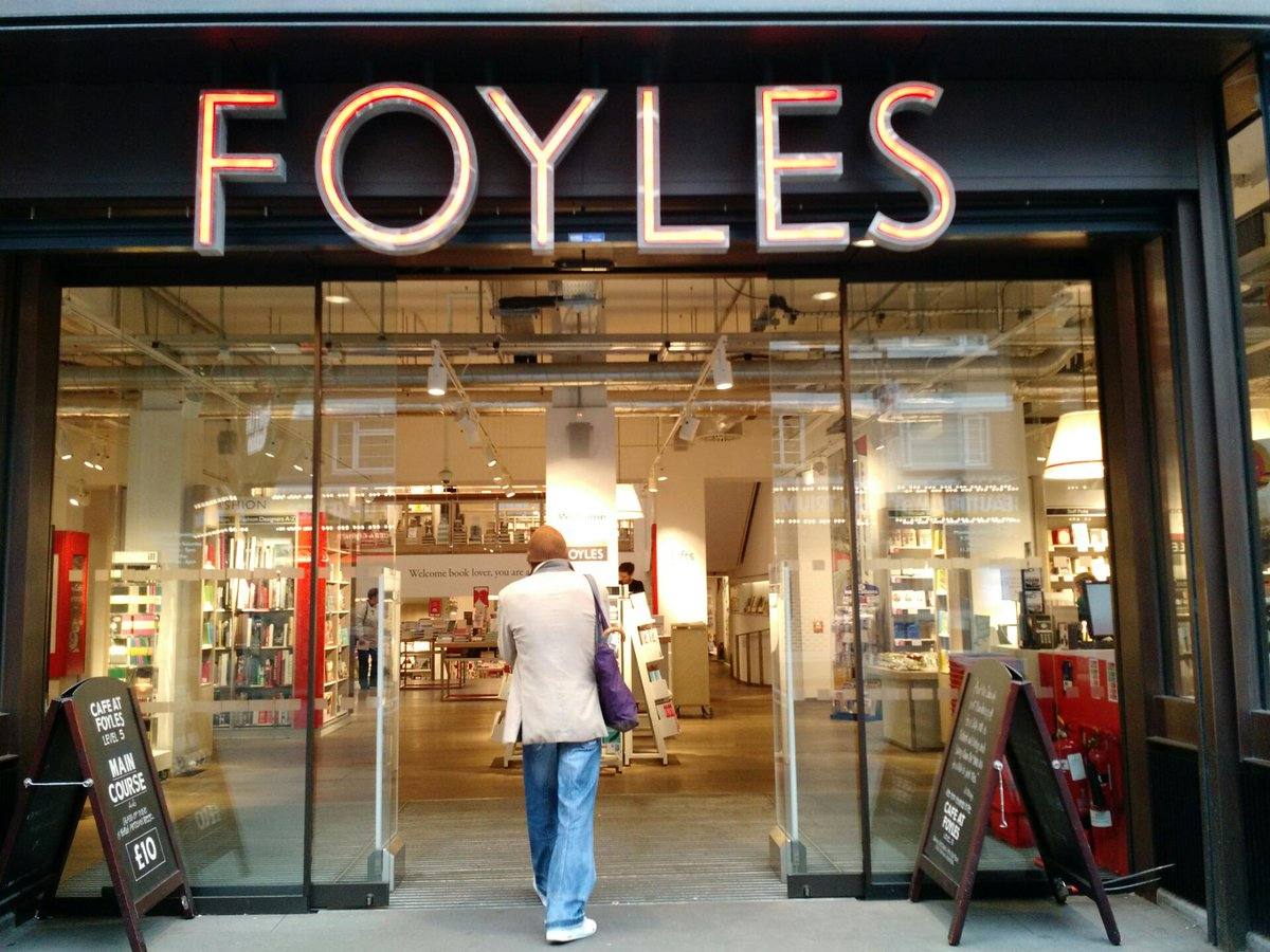 #londonbookshopcrawl start at @foyles https://t.co/0fyTRgNcq9