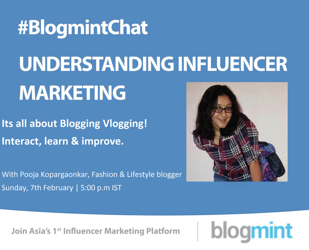 Join me on twitter with @theblogmint for a #blogmintchat Tomorrow (7th Feb, 5 p.m.) #Blogger #IndianFashionBlogger https://t.co/Gz8MYPg7vm