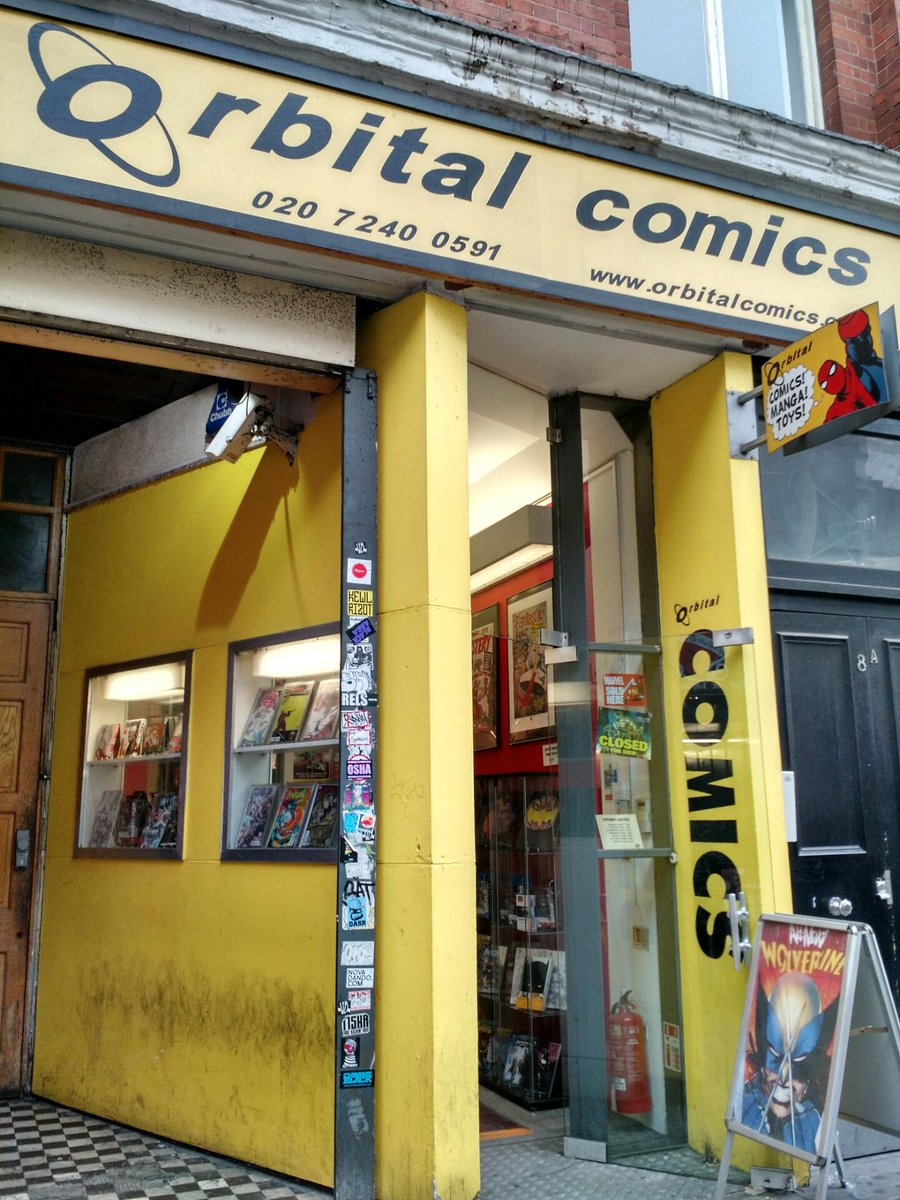 Second shop #londonbookshopcrawl @orbitalcomics https://t.co/2dcPW5RA5E