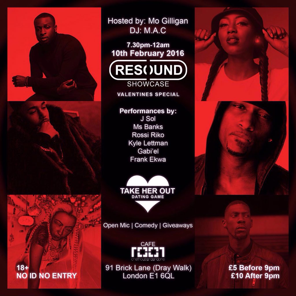 THIS WED | #RESOUND  W/ @MsBanks94 @JSoLworld @ROSSIRIKO @KyleLettman @Gabielsound @FrankEkwa + GAMESHOWS & OPEN MIC https://t.co/KkiiYXe4za