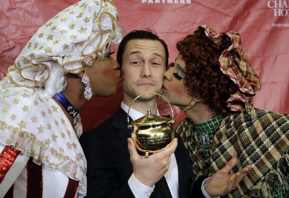 Snow couldn't stop Joseph Gordon-Levitt's Hasty Pudding Man of the Year ceremony