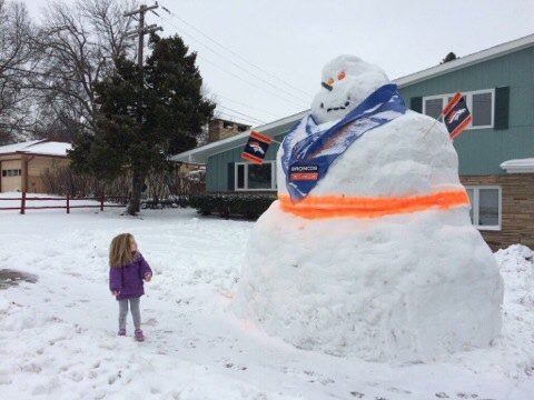 Lots of snow-Bronco fans back here, @NickGriffithTV Meanwhile back in Denver. Ready for SB50