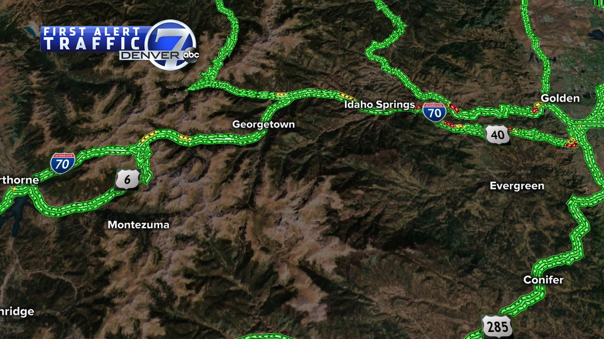 This is a look at the I-70 mountain drive from Golden to Silverthorne