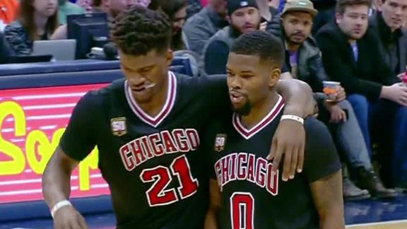 Bulls hoping Jimmy Butler injury to left knee only a sprain