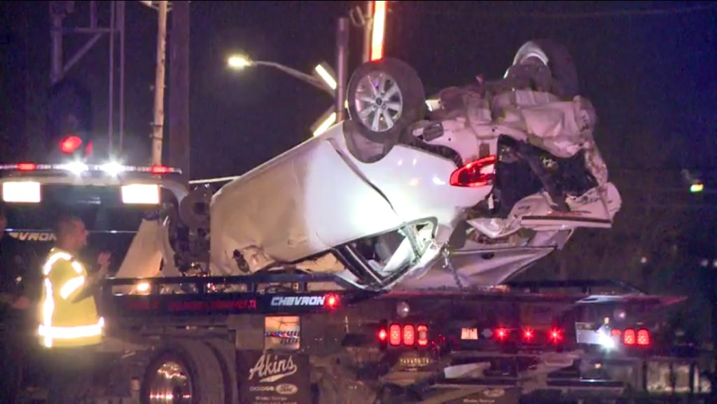 Two teens being sought by police in northeast Houston, bail out of a car & it rolls right into a train. khou11