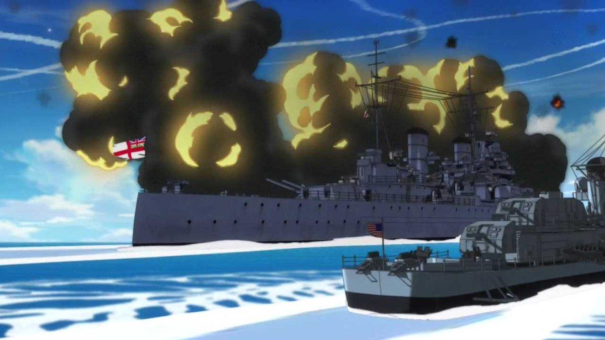 【更新終了】スト魔女小ネタbot в Твиттере: «【艦艇】レナウン級巡洋戦艦 ブリタニアの巡洋戦艦。2期11話にて登場。ミーナの作戦図には存在しないが連合国艦隊の1隻として対ネウロイ用対空弾を撃っている様子が一瞬写る。手前に見えるのはリベリオンのフレッチャー級駆逐艦。 https://t.co/iQU36C3Aso»