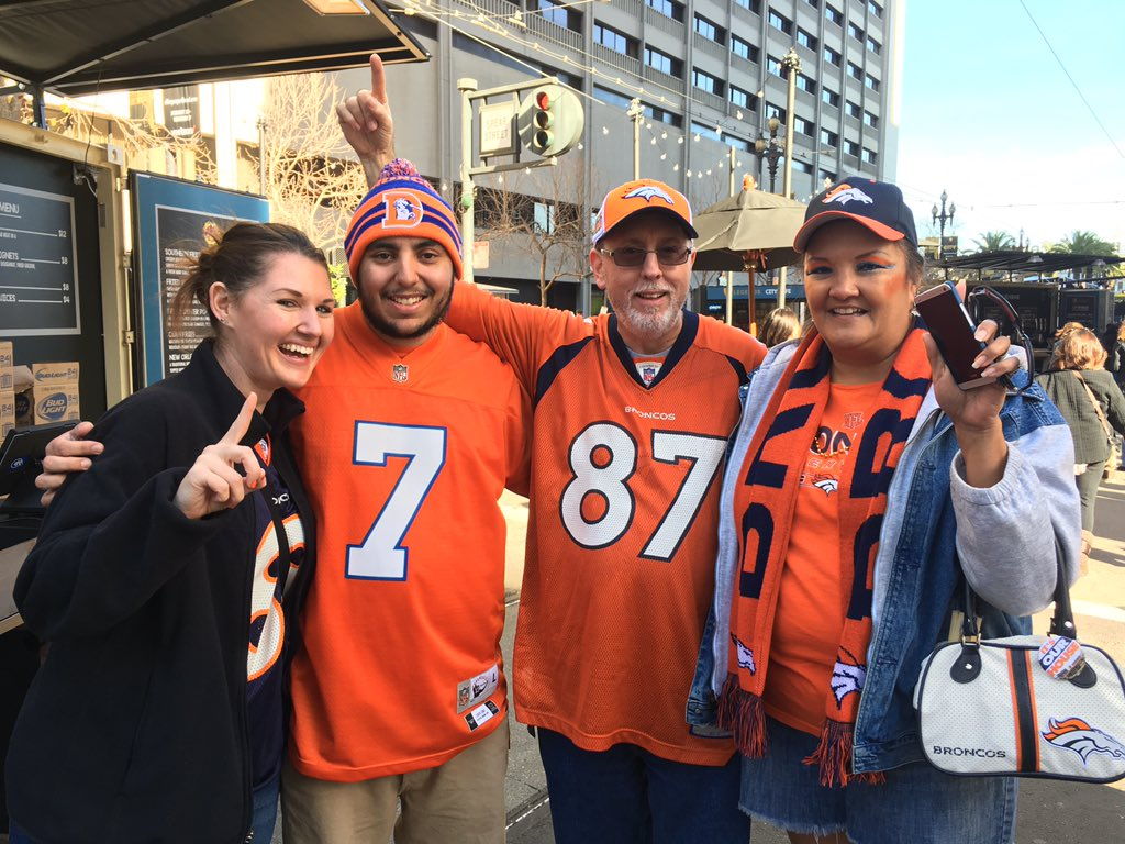 Ready for the @Broncos rally in SuperBowlCity! We'll be streaming it live at 12:15 MT