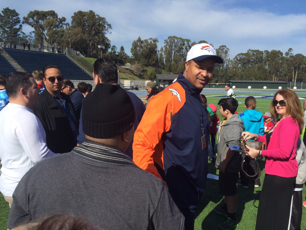 Broncos great Steve Atwater at Wounded Warriors Game of Honor. Says he's honored to be up for HOF via @davealthouse