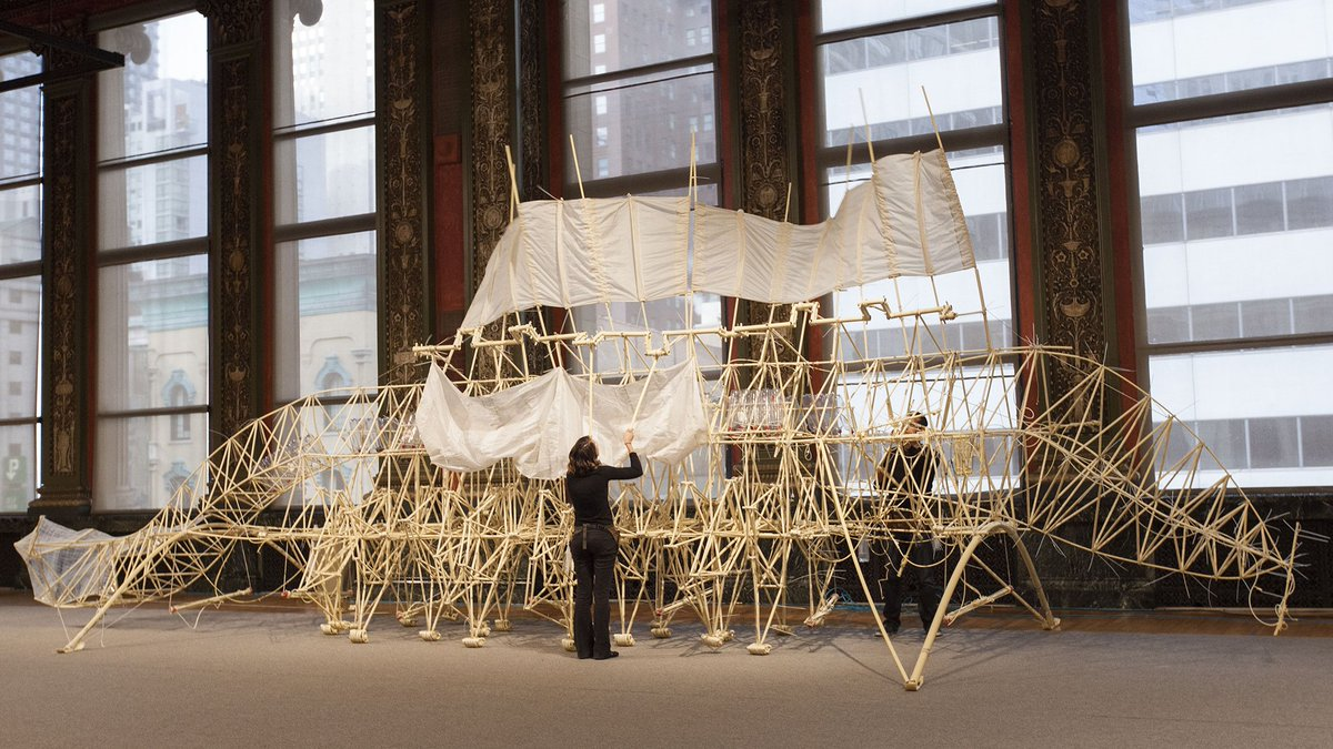 Strandbeest: The Dream Machines of Theo Jansen is the best free art exhibit in Chicago.