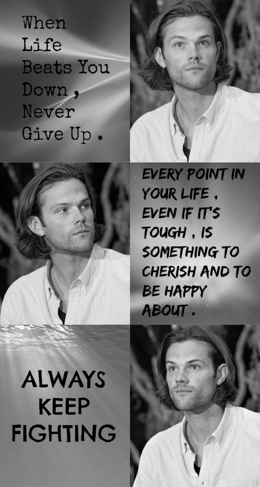 Jared padalecki quotes - Jared Aesthetics On Twitter Jared Padalecki Inspirational Quotes Aesthetic Akf Per Request Https T Co Khxdkxwomy