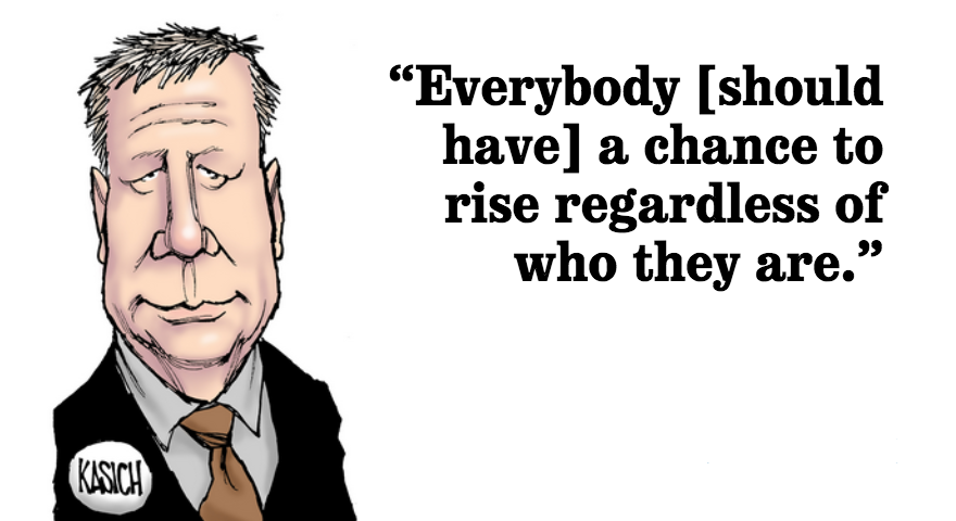 John Kasich explains his meaning of conservatism and points to the importance of economic growth for all