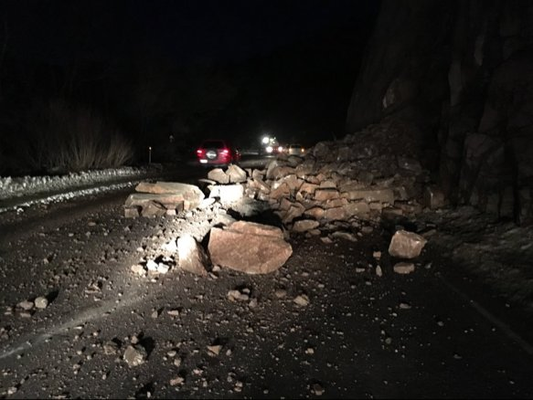 TRAFFIC ALERT: 1 lane closed on WB Hwy. 24 following rockslide. Expect delays - @CSP_CSprings