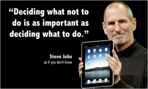 Deciding What Not To Do. #SteveJobs #Quotes  #TuesdayThoughts #TuesdayMotivation