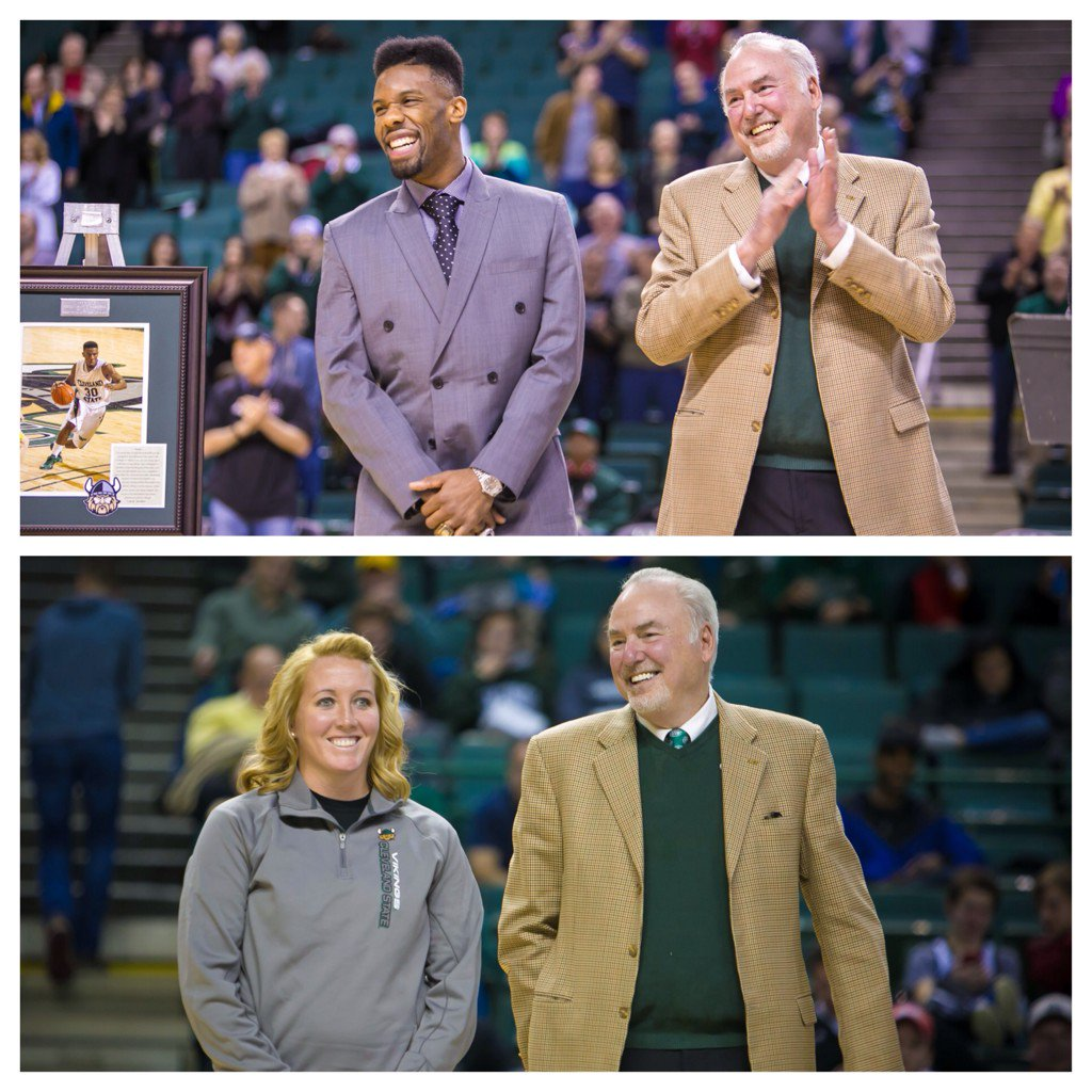 #CLEstate retired #30 & #23 today. Congratulations, @pg30_Cole Norris Cole & Kailey Klein! #GoVikings https://t.co/wSHRufeYoO