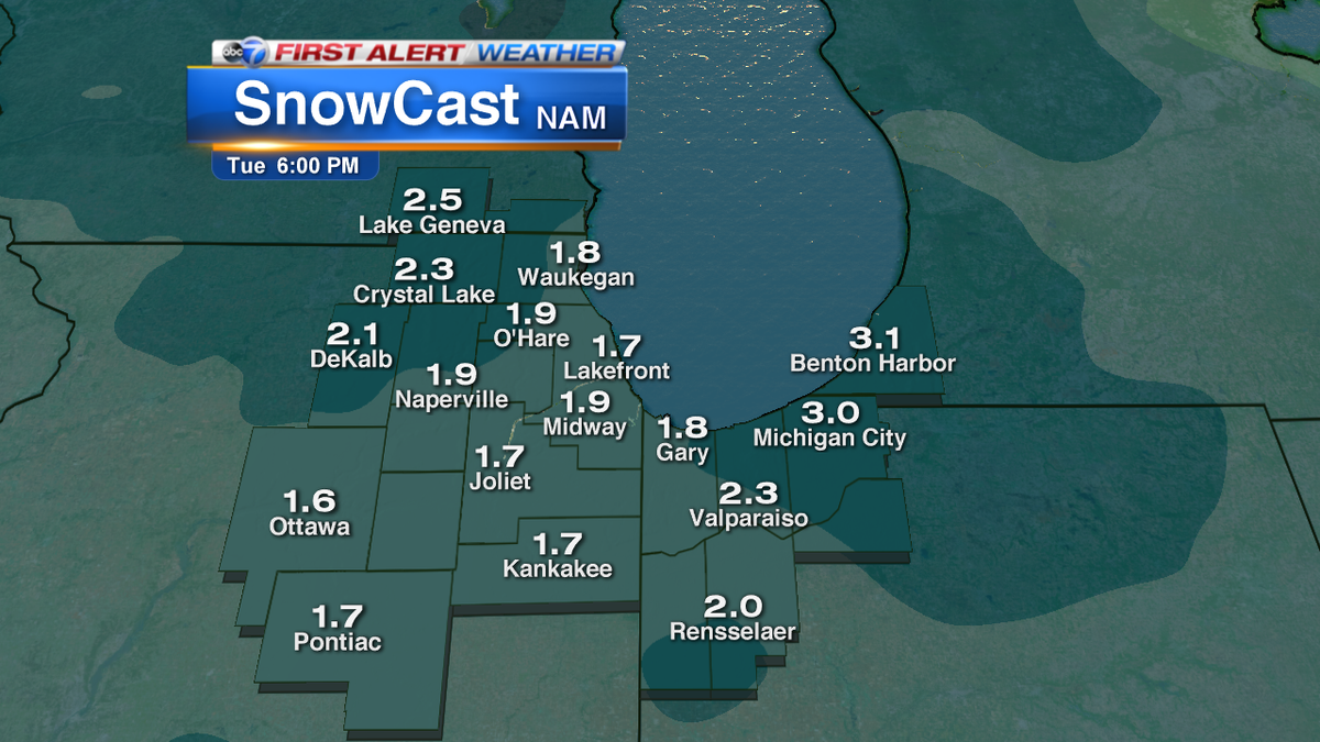 It won't be a major snowstorm but 1- 2.5 inches of snow is possible Mon-Tue. I'll have details on our 5 pm news
