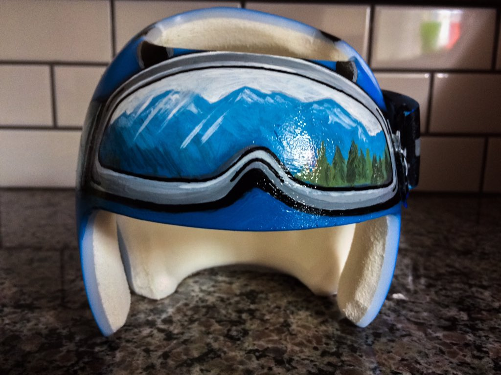 My 5-month old son needs to wear a helmet for a few months, so we decided to make it look really cool...
