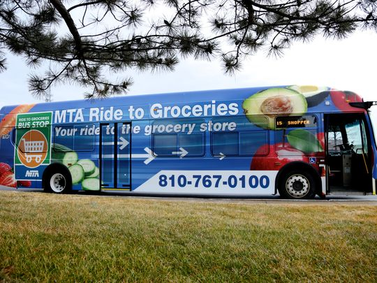 Bus program helps Flint residents get rides to groceries