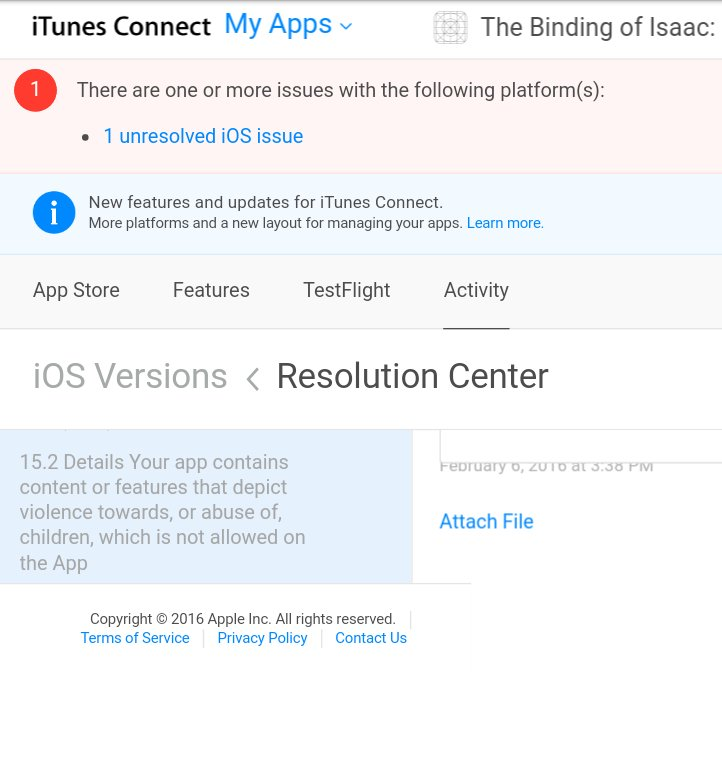 Apple's gaming censorship continues: The Binding of Isaac blocked from App Store