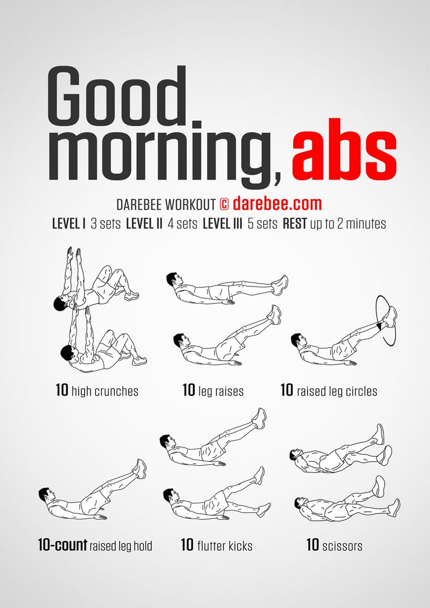 "DAREBEE On Twitter: ""Good Morning Abs Workout Https://t.co"