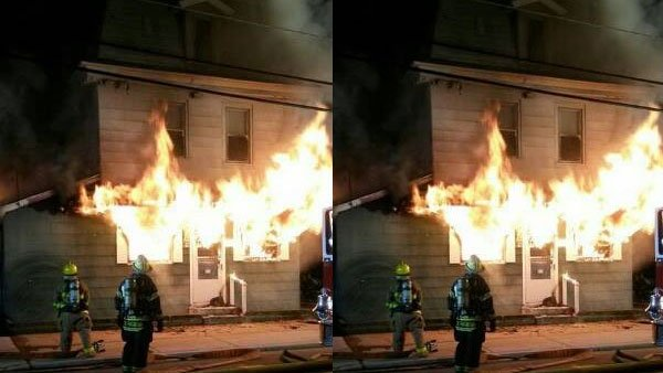 Firefighters battle 3-alarm blaze at tavern in Millville, New Jersey