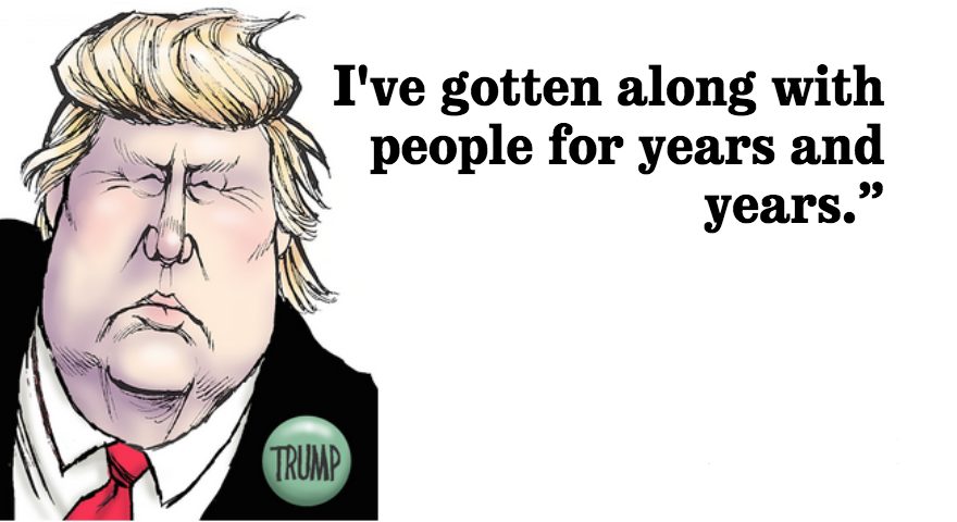"""""""I actually think I have the best temperament,"""" Donald Trump says of his character"""