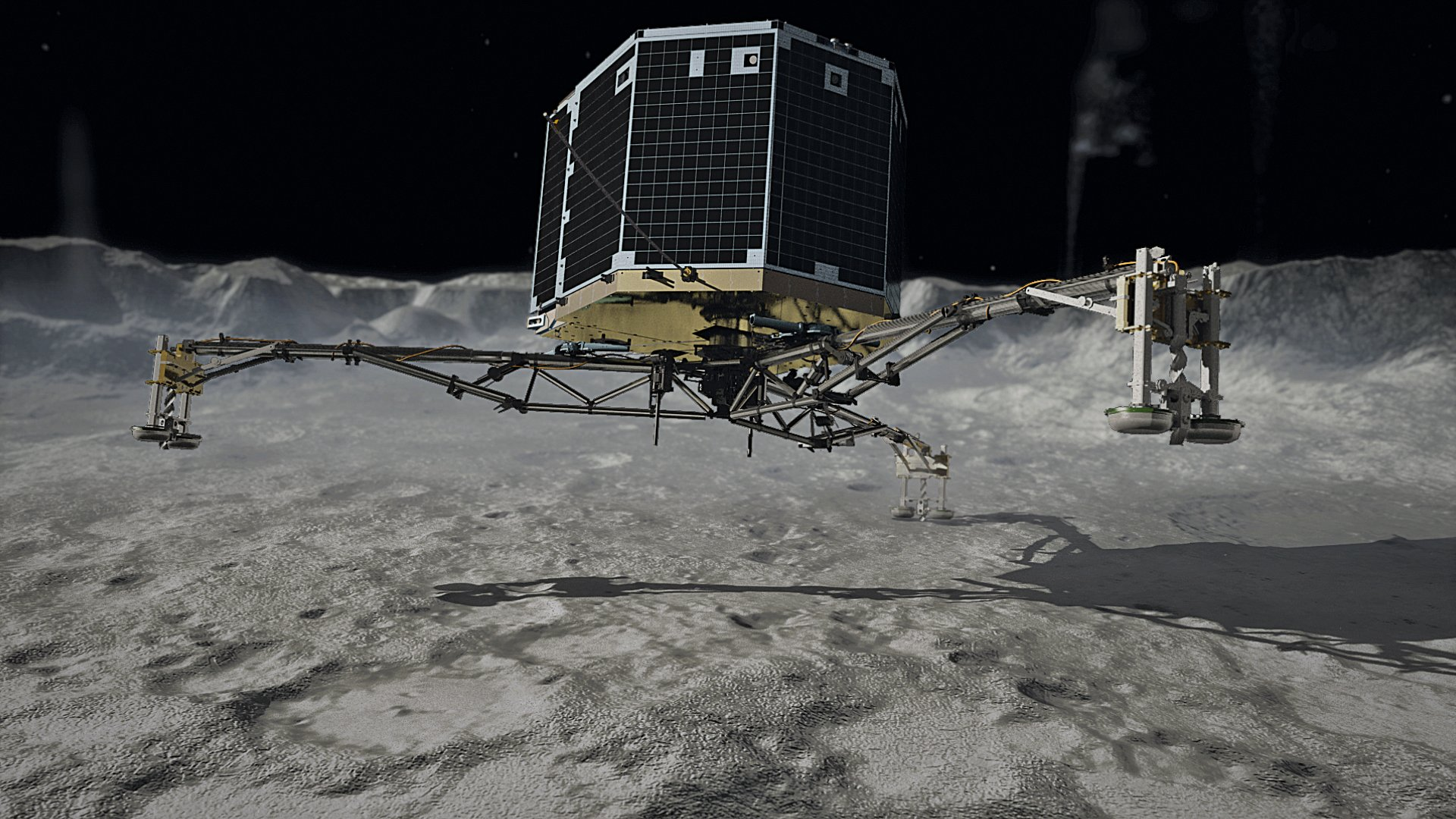 touchdown! rosettas philae probe lands on comet - HD 1920×1080