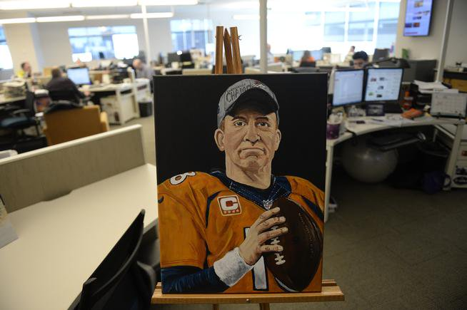 Sunday's Denver Post will feature a portrait of Broncos Peyton Manning for SuperBowl50
