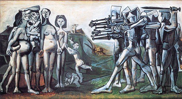 Picasso's painting of SInchon massacre, 1950 mass murder of thousands of Korean civilians by US and its allies https://t.co/sGgoMLUg8U