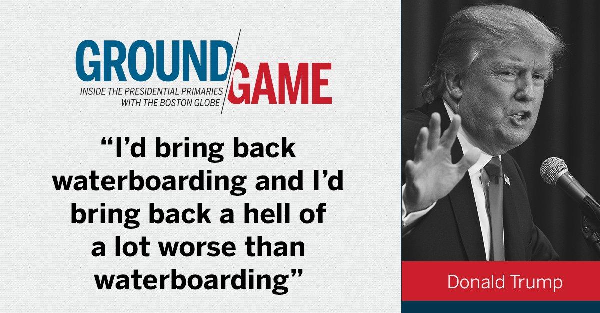 Donald Trump on waterboarding. GOPdebate