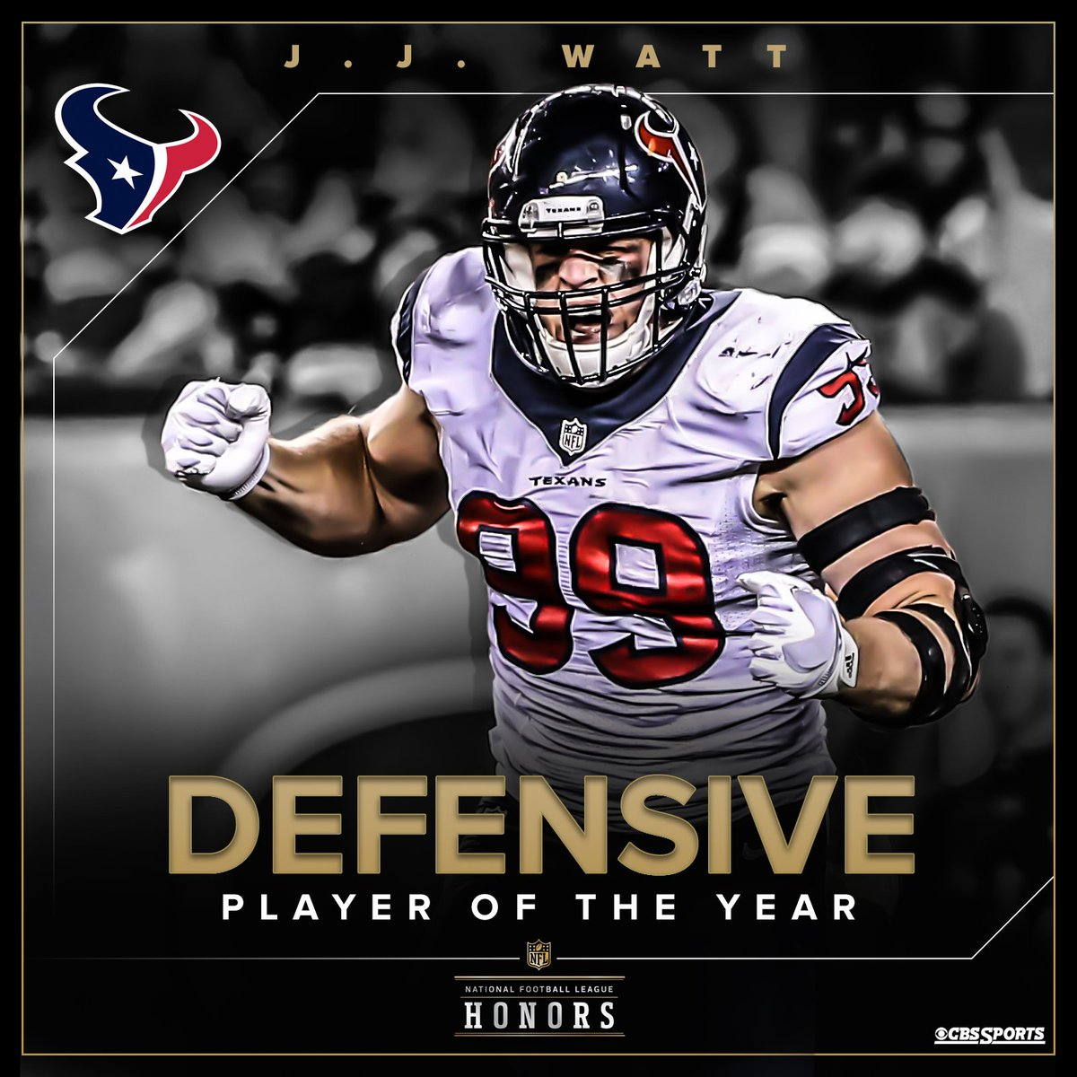 For the second straight year, nobody was able to wreak havoc on offenses quite like @HoustonTexans stud J.J. Watt.