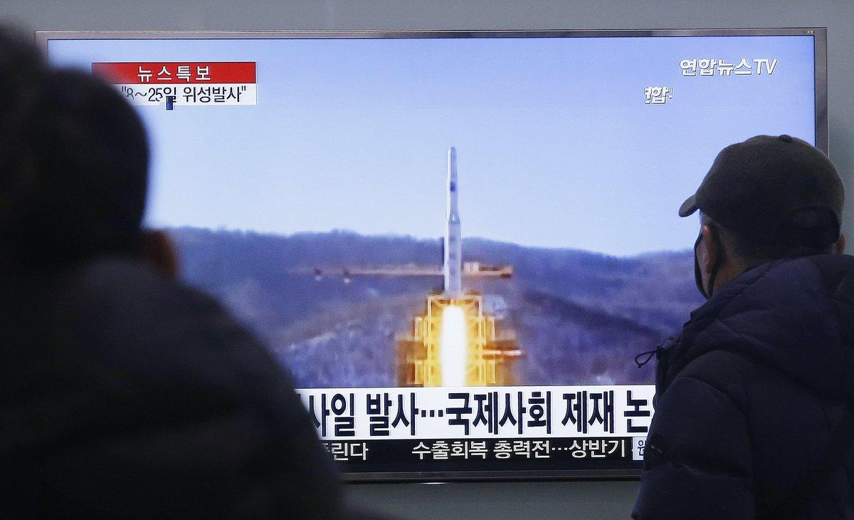 North Korea launches long-range rocket, but South Korean media reports it may have failed